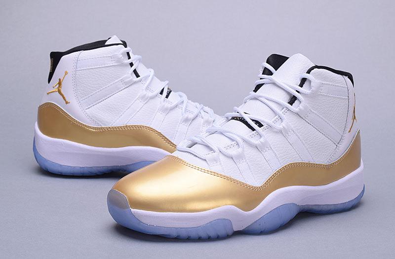 official photos f9e1c a97a6 Men Jordan 11 Retro White Gold 2016 Olympic Shoes