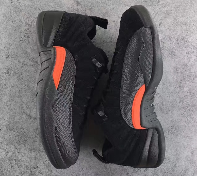 Men Jordan 12 Low Retro Max Orange Black Shoes