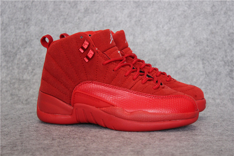 Men Jordan 12 Retro Deer All Red Shoes