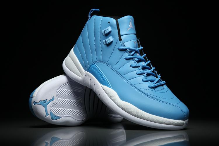 678814dc730b Men Jordan 12 Retro North Carolina Blue Shoes