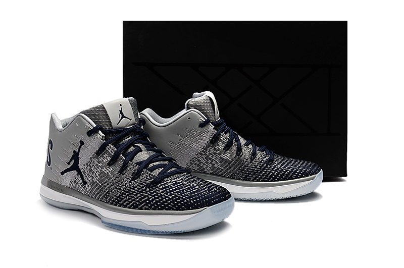 Men Jordan 31 Low George Grey Black Shoes