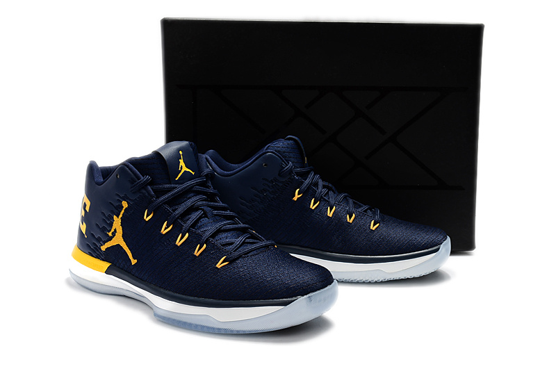 Men Jordan 31 Low Michigant Blue Yellow Shoes