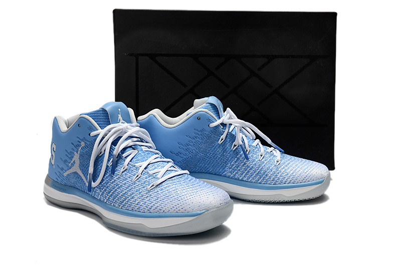 Men Jordan 31 Low North Carolina Blue White Black Shoes