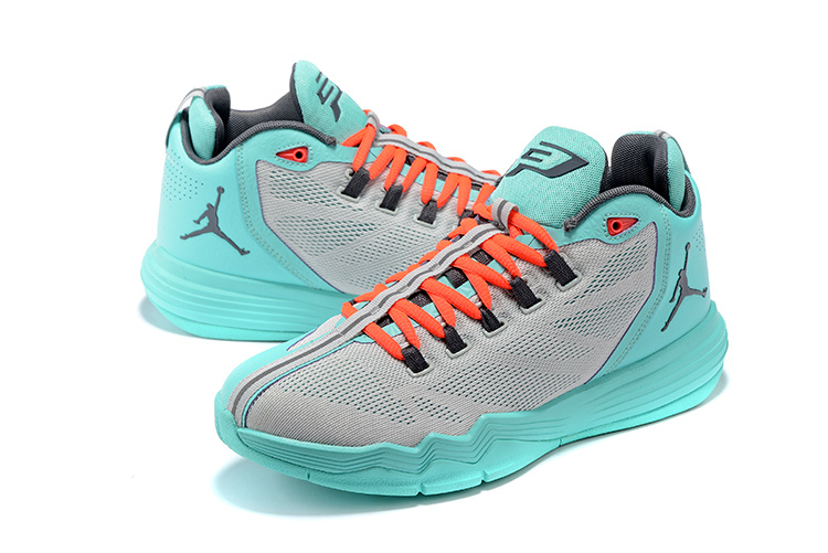 Men Jordan CP3 9 AE Grey Blue Red Black Shoes