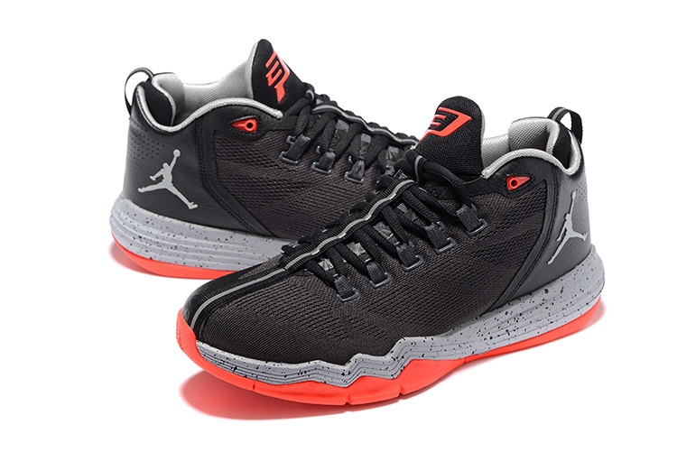 Men Jordan CP3 IX AE Black Grey Red Shoes