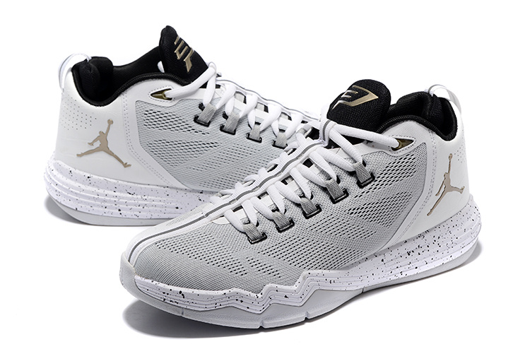 Men Jordan CP3 IX AE Grey White Shoes