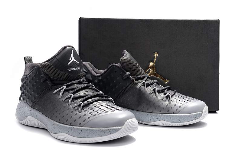 Men Jordan Extra Fly Black Grey Basketball Shoes