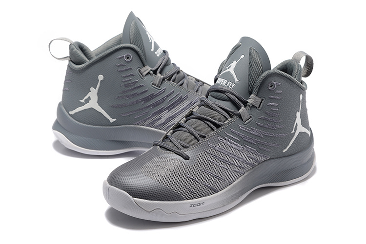 wholesale dealer 94556 7a3ac Men Jordan Super Fly 5 Wolf Grey Shoes [WOMEN1914] - $92.50 ...