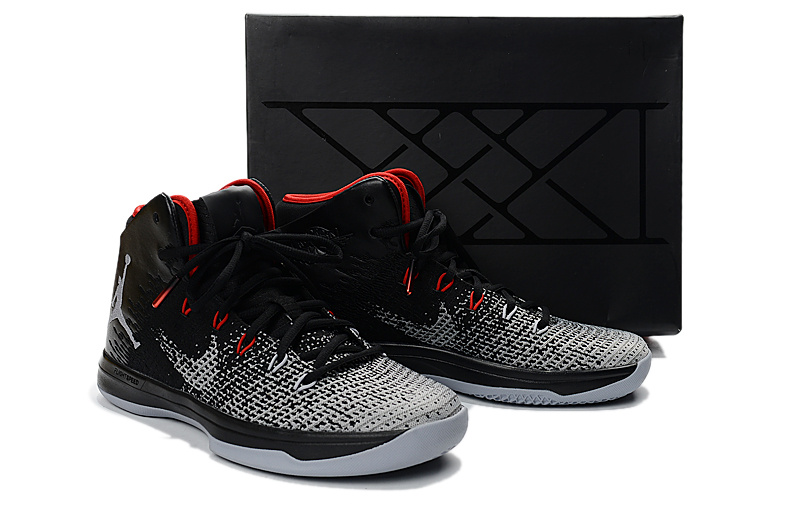 Men Jordan XXXI Black Grey Red Shoes