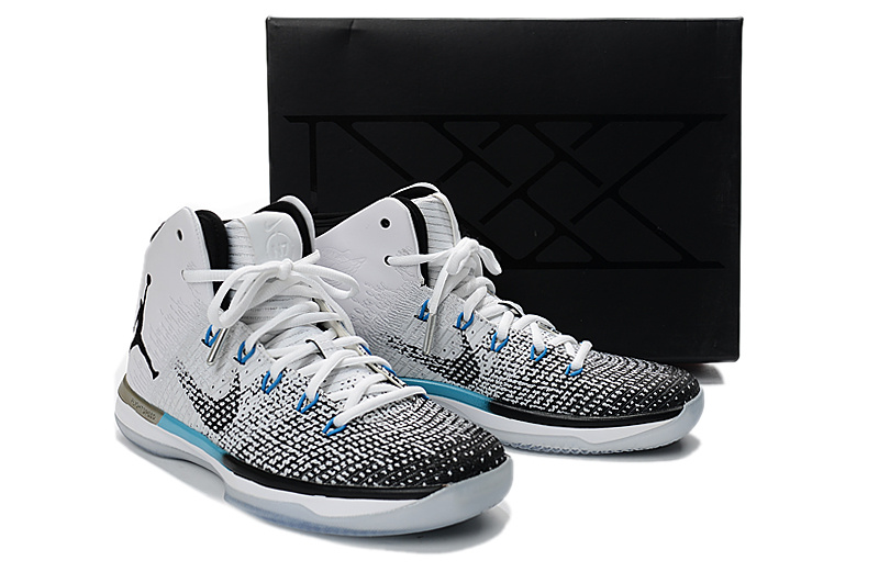 Men Jordan XXXI N7 White Grey Black Blue Shoes