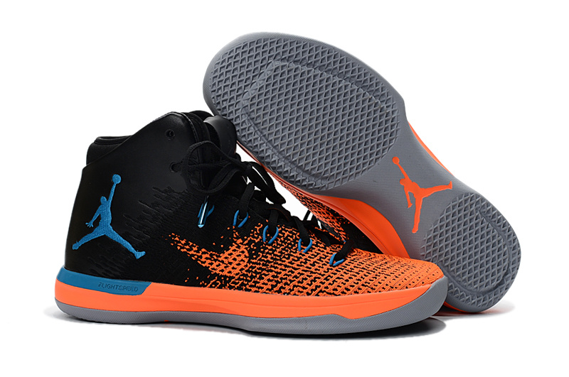 Men Jordan XXXI Orange Black Blue Shoes