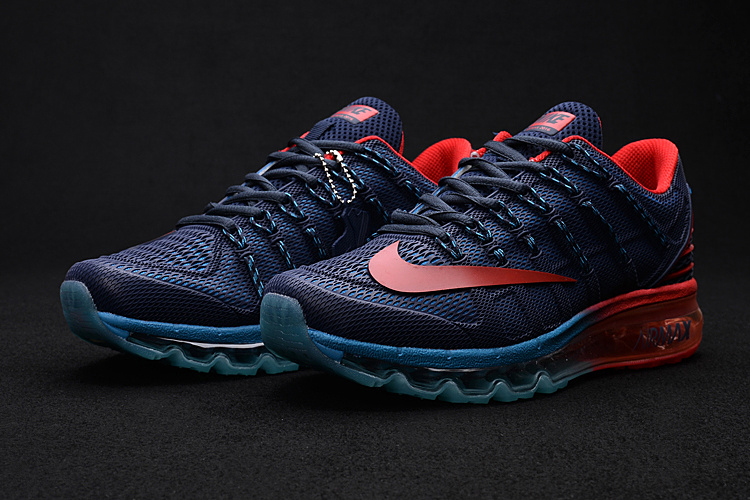 Men Air Max 2016 2 Deep Blue Red Shoes