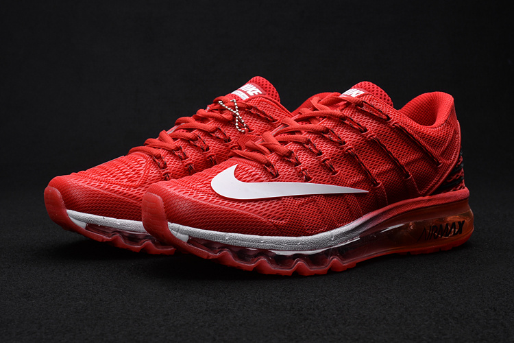Men Air Max 2016 2 Hot Red White Shoes