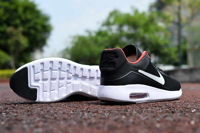 Men Air Max Modern All Black Red White Shoes