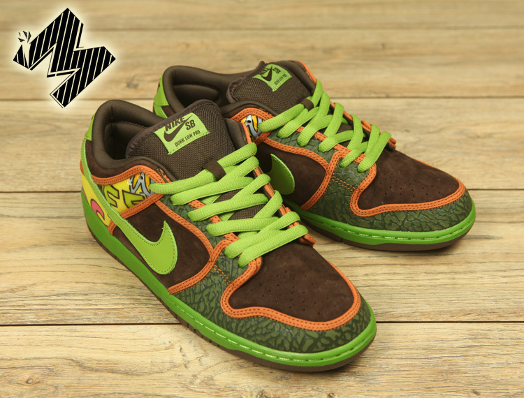 Men Dunk SB Low Green Brown Shoes