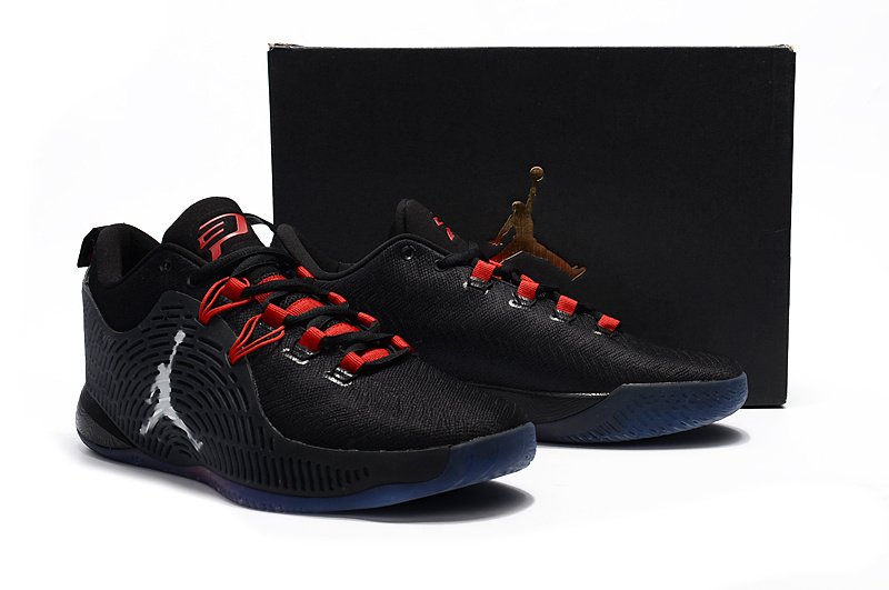 Men Jordan CP3 XI Black Red Basketball Shoes