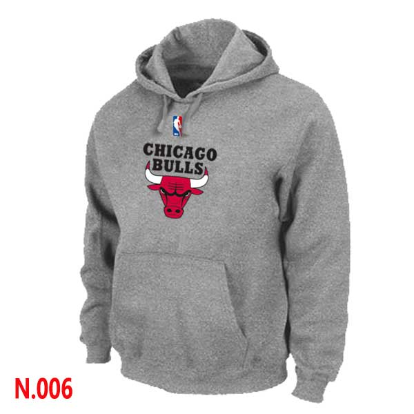 Mens Chicago Bulls L.Grey Pullover Hoodie