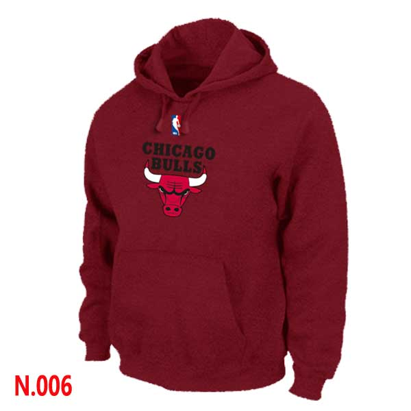 Mens Chicago Bulls Red Pullover Hoodie