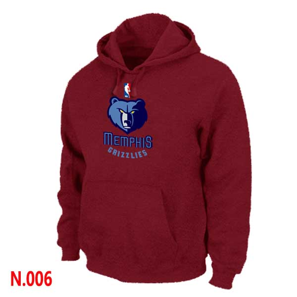 Mens Memphis Grizzlies Red Pullover Hoodie