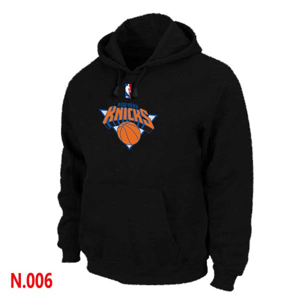Mens New York Knicks Black Pullover Hoodie