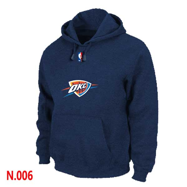 Mens Oklahoma City Thunder Dark blue Pullover Hoodie