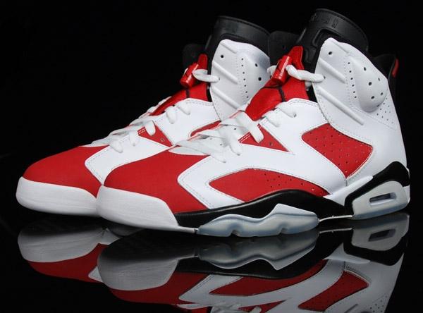 outlet store eee96 5780e Mens Air Jordan 6 Retro Carmine Returns Shoes