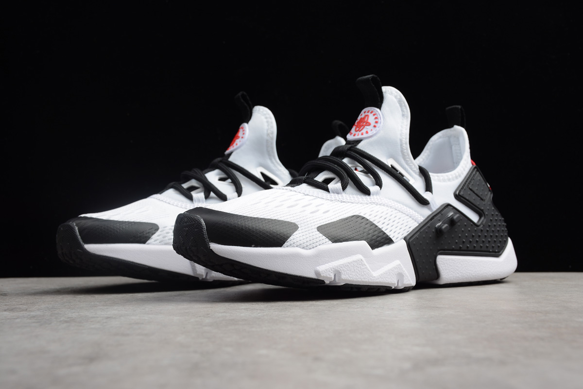 Nike Air Huarache Drift BR White Black Red Running Shoes