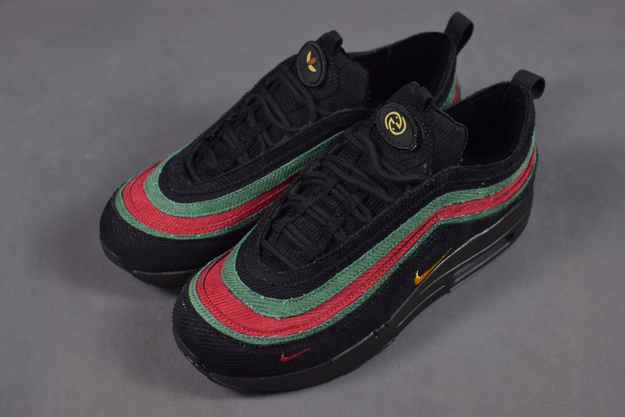 WMNS Nike Air Max 1 97 VF SW Black Green Red