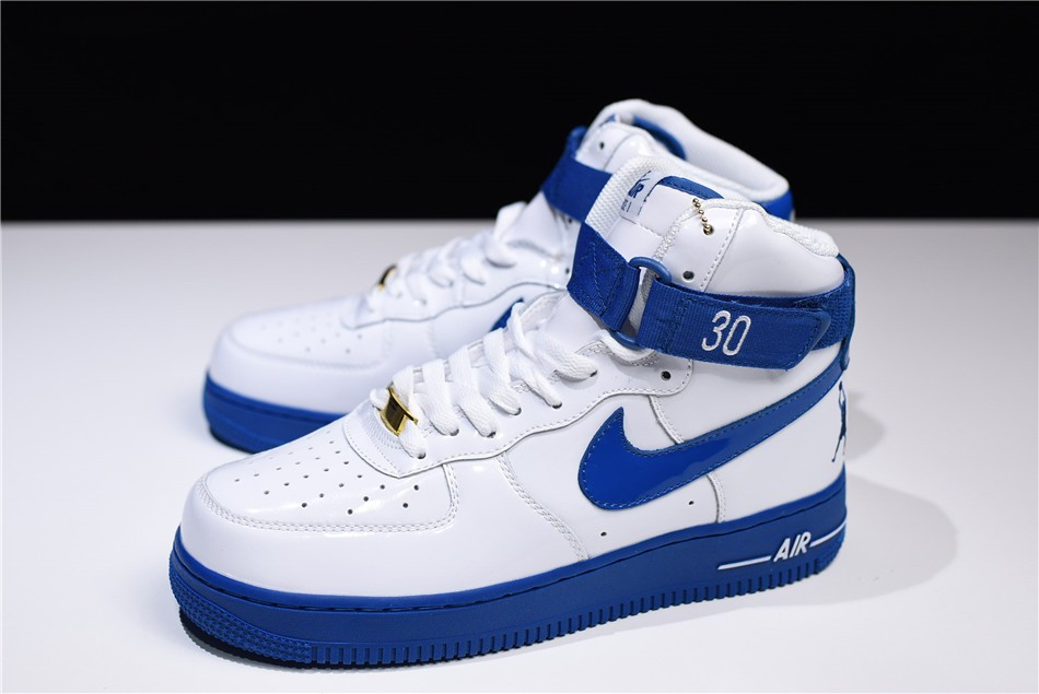 Womens Nike Air Force 1 High Sheed Rude Awakening White Blue Jay
