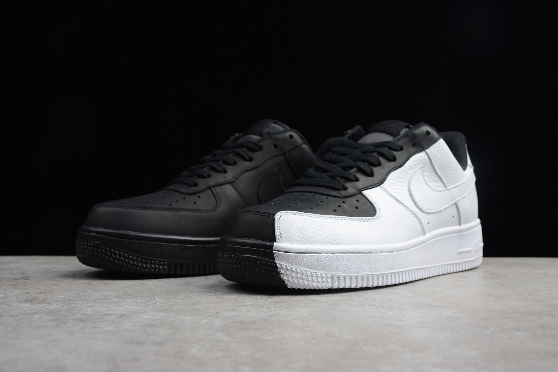 Womens Nike Air Force 1 Low Split Black White