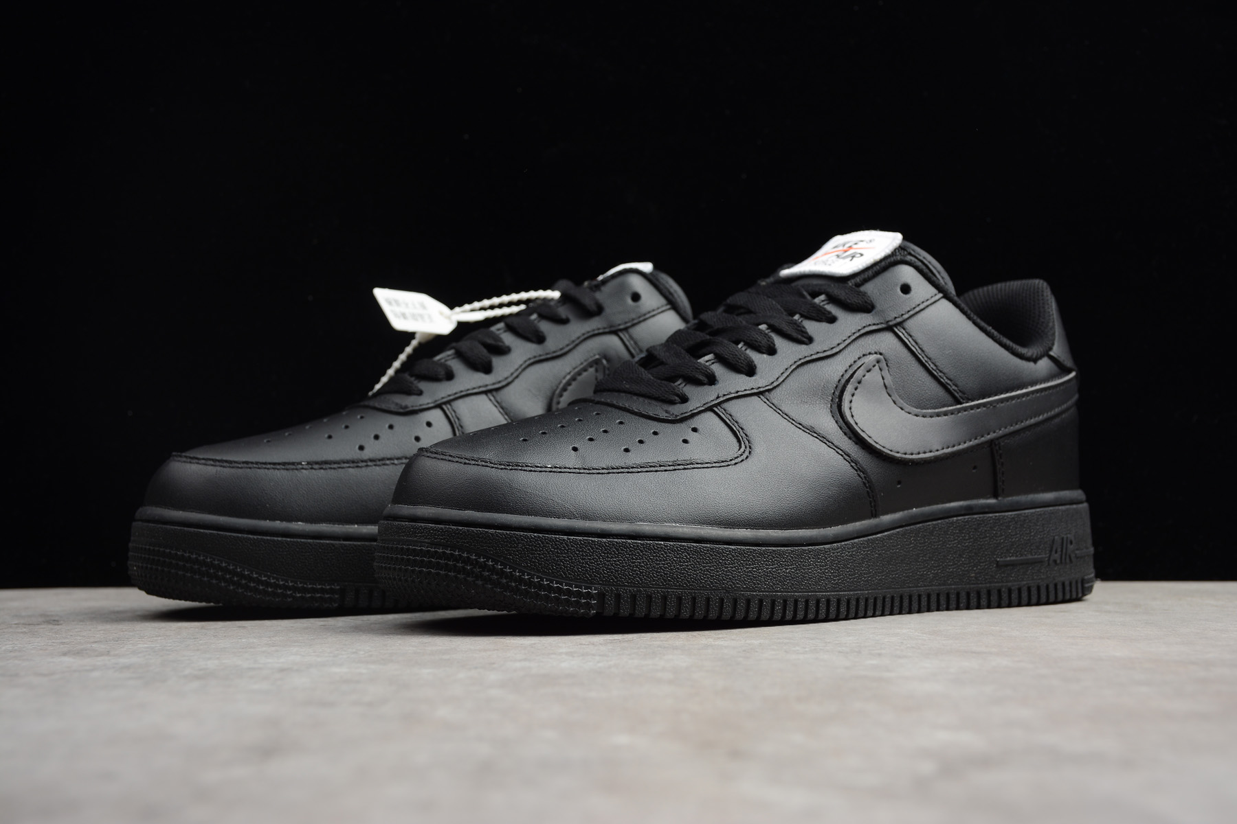 Womens Nike Air Force 1 Low Swoosh Pack Triple Black