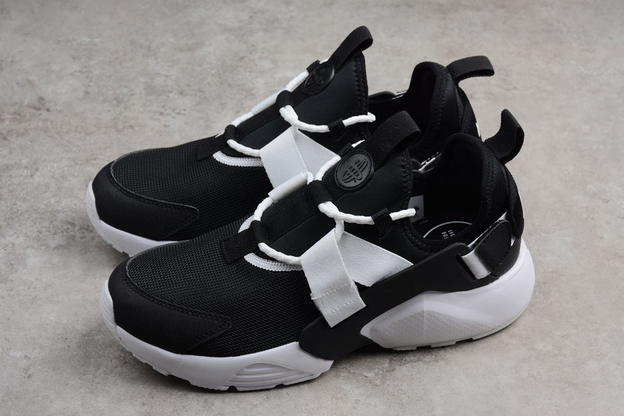 Nike Air Huarache City Low Casual Shoes Black White