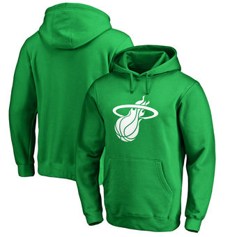 Miami Heat Fanatics Branded St. Patrick's Day White Logo Pullover Hoodie - Kelly Green