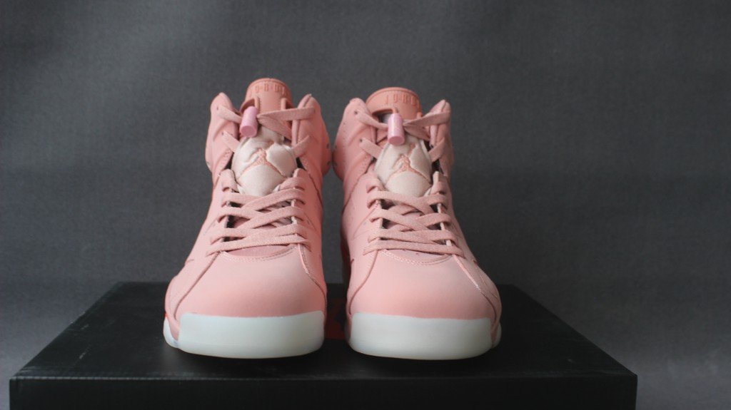 Men Jordan 6 Retro Light Pink White Shoes