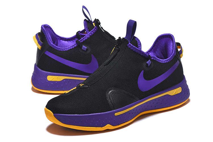 New Jordan CP3 4 Black Purple Yellow Shoes