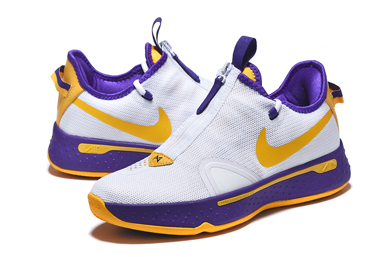 New Jordan CP3 4 White Purple Yellow Shoes
