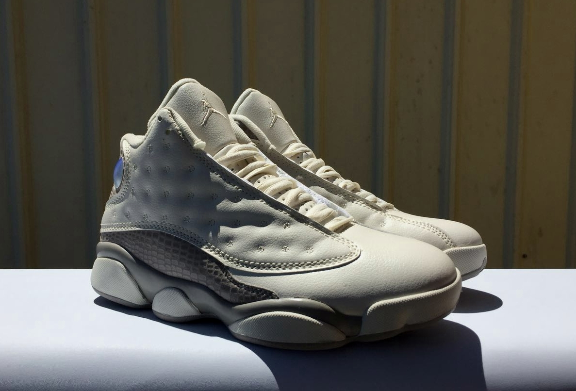 New Men Air Jordan 13 Beign Grey Shoes