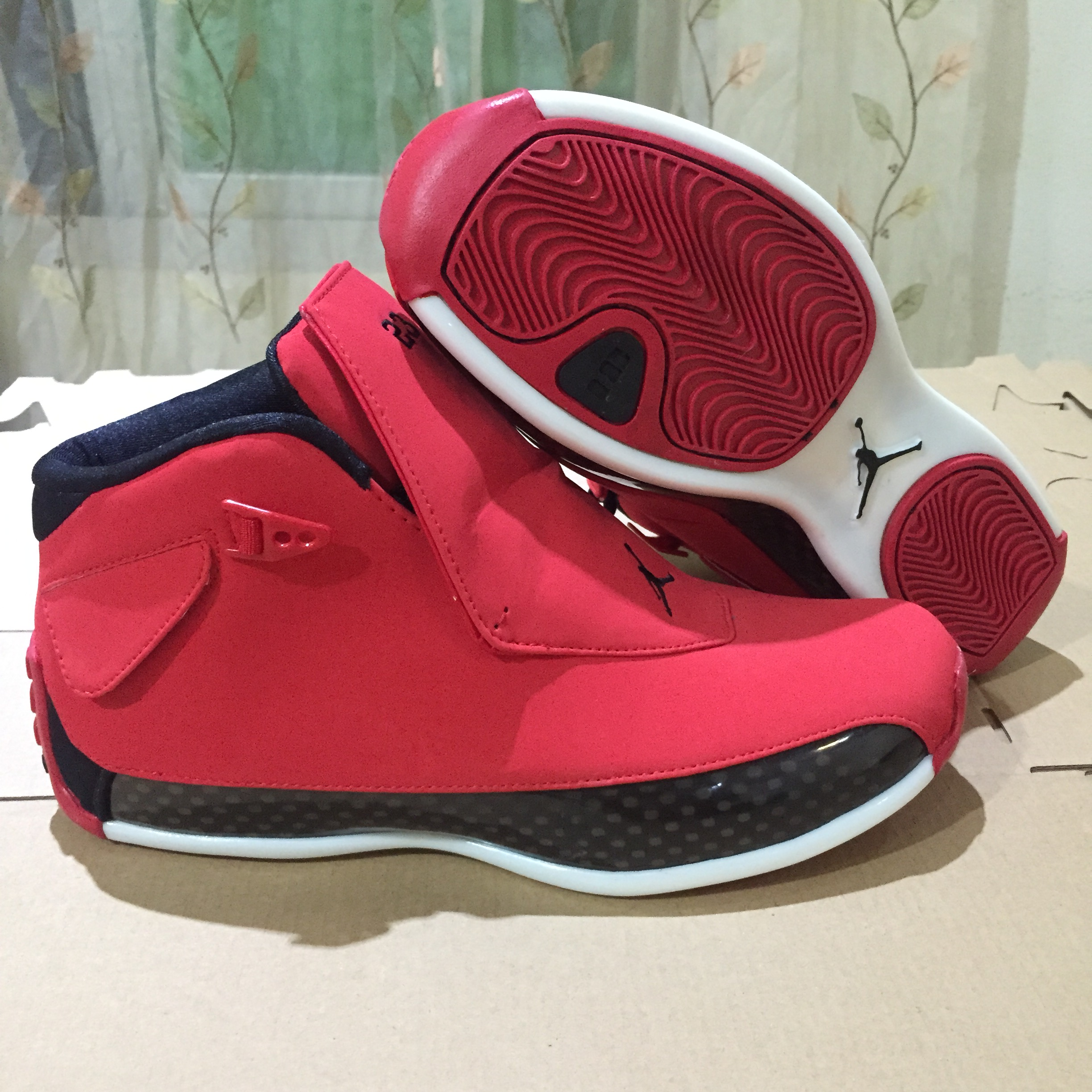 New Men Air Jordan 18 Retro Bulls Red Shoes