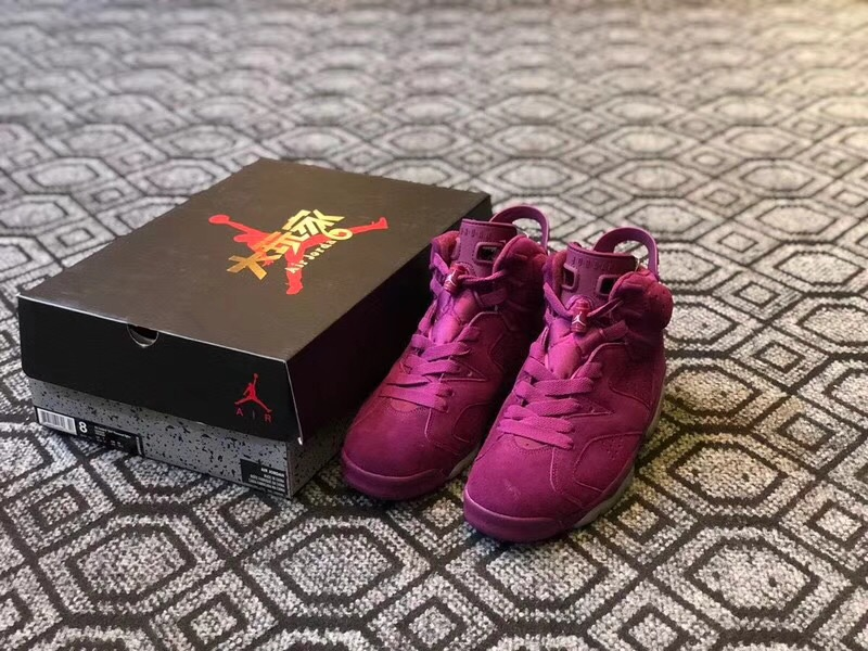 New Men Air Jordan 6 Bordeaux Burgundy Wine Red Shoes