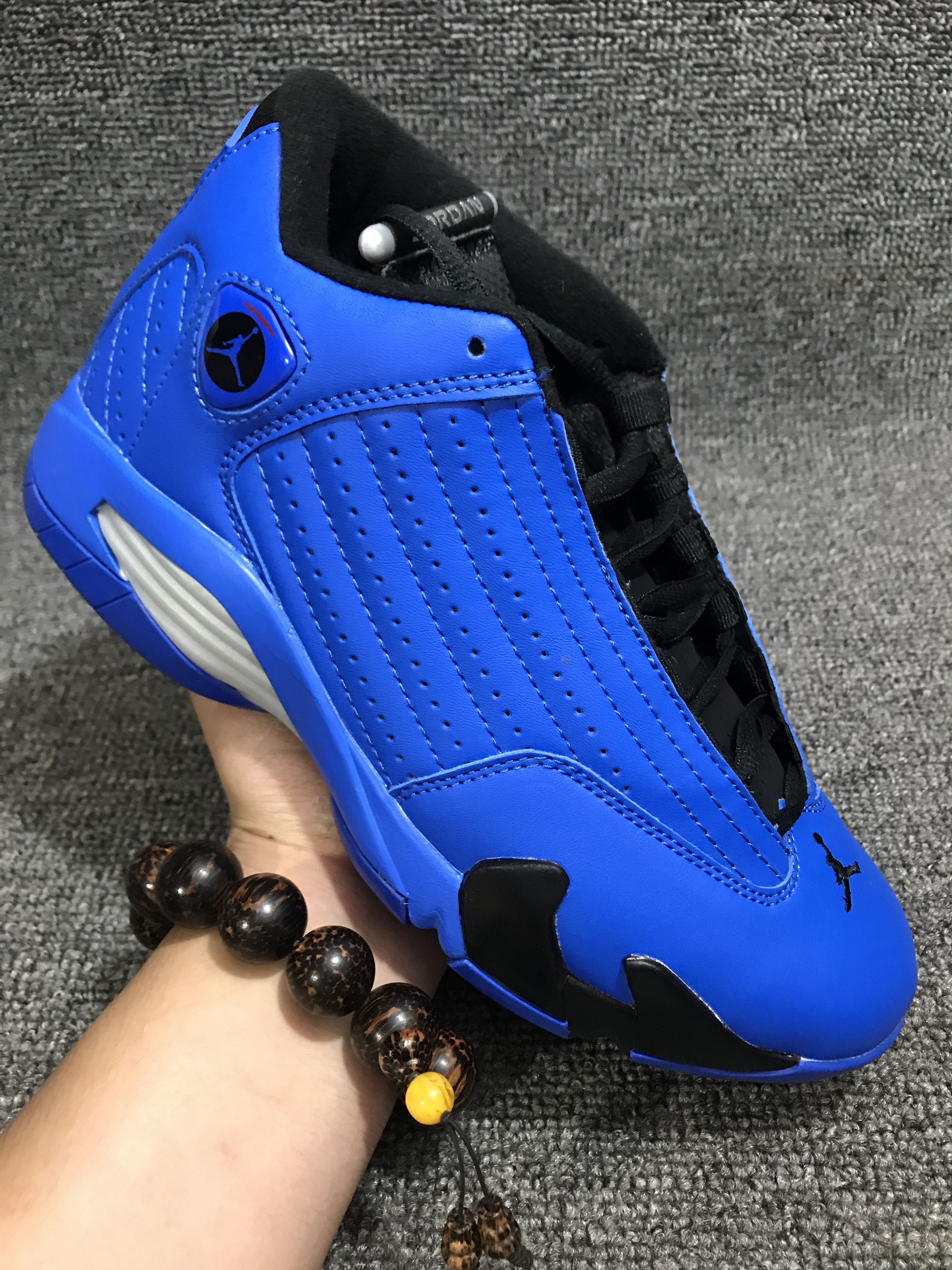 New Men Jordan 14 Blue Black