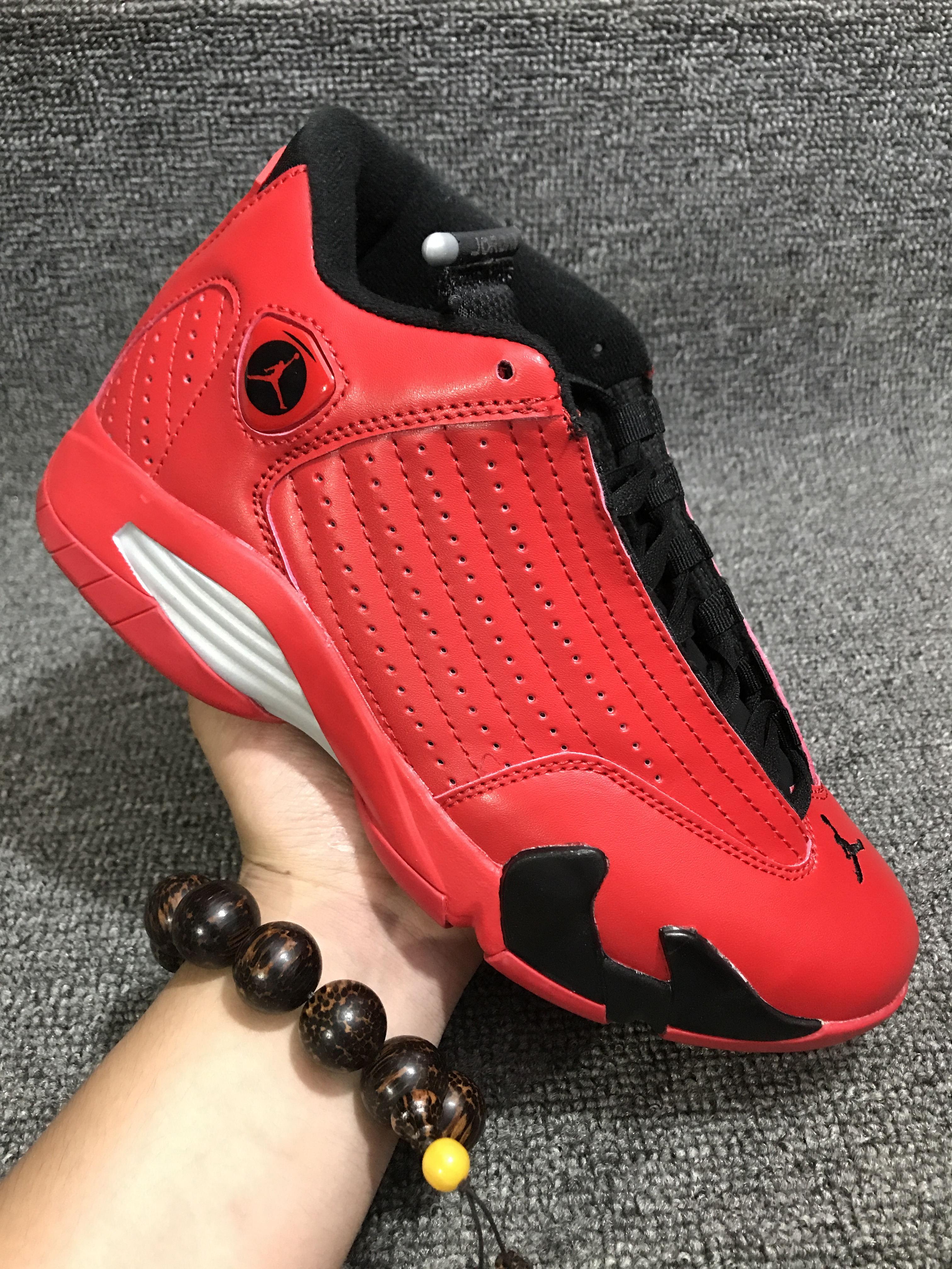 New Men Jordan 14 Red Black