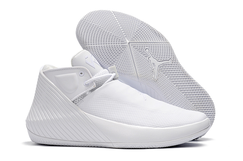 New Men Jordan Why Not Zero.1 Low All White Shoes