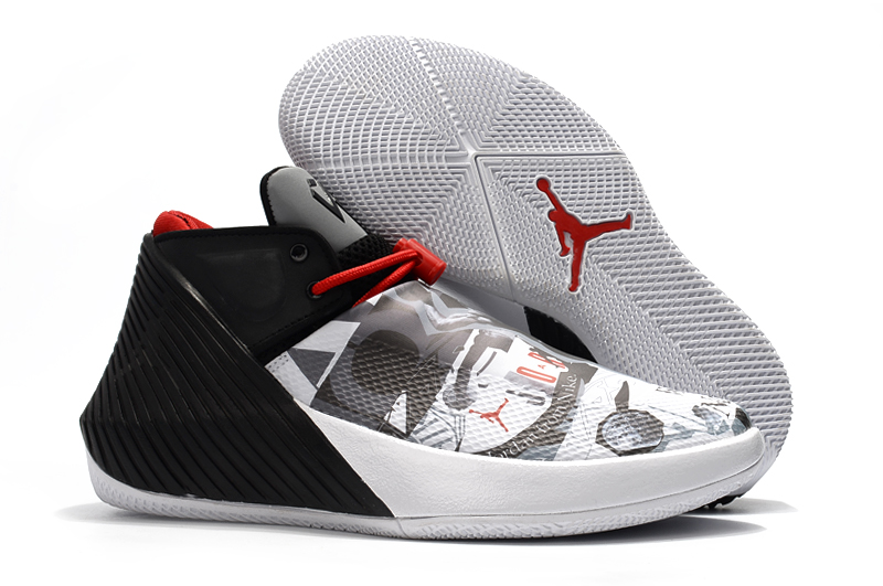 New Men Jordan Why Not Zero.1 Low Grey Black Red Shoes