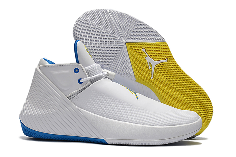 New Men Jordan Why Not Zero.1 Low White Blue Yellow Shoes