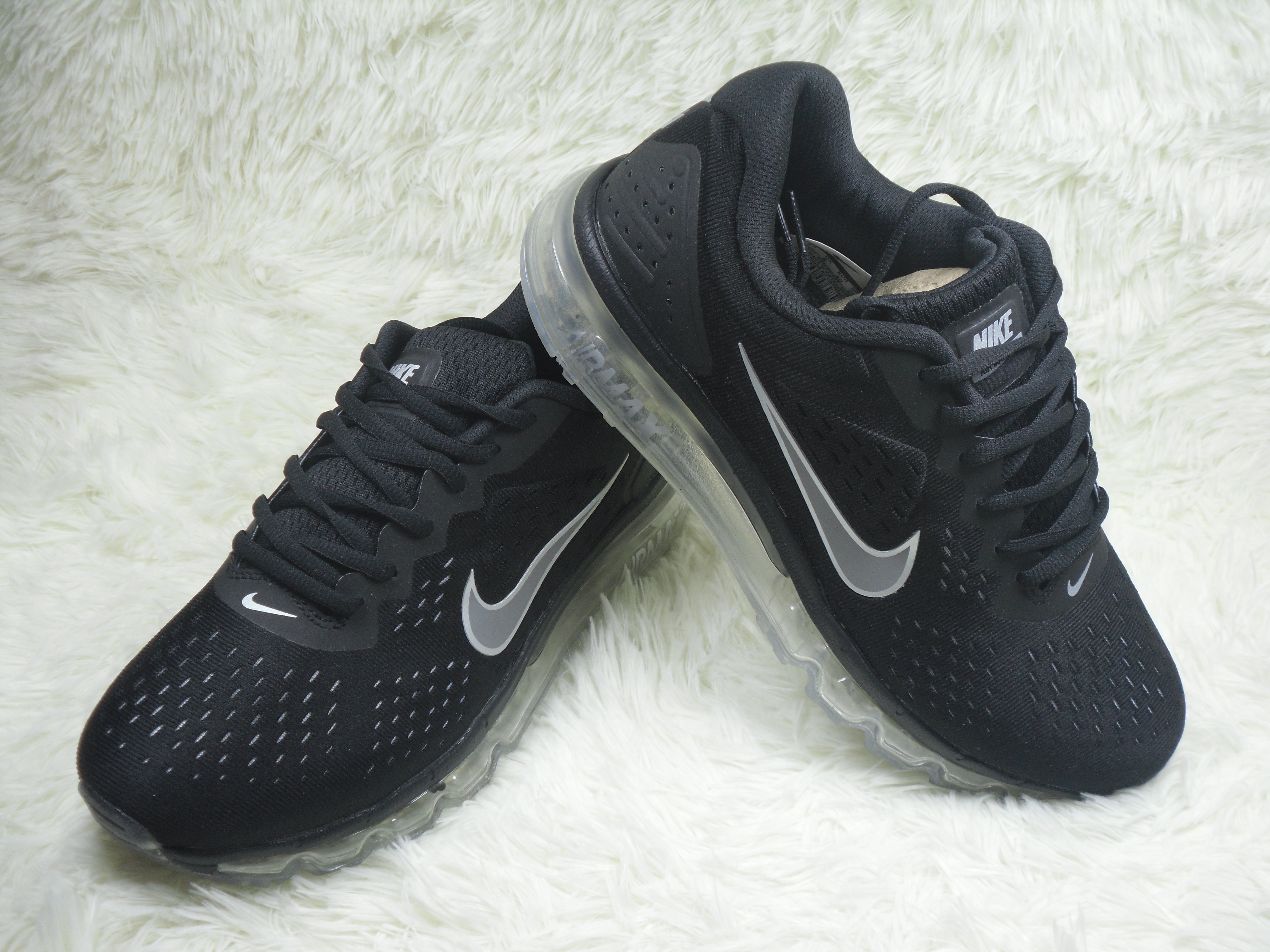 New Men Nike Air Max 2019 Black Grey Shoes