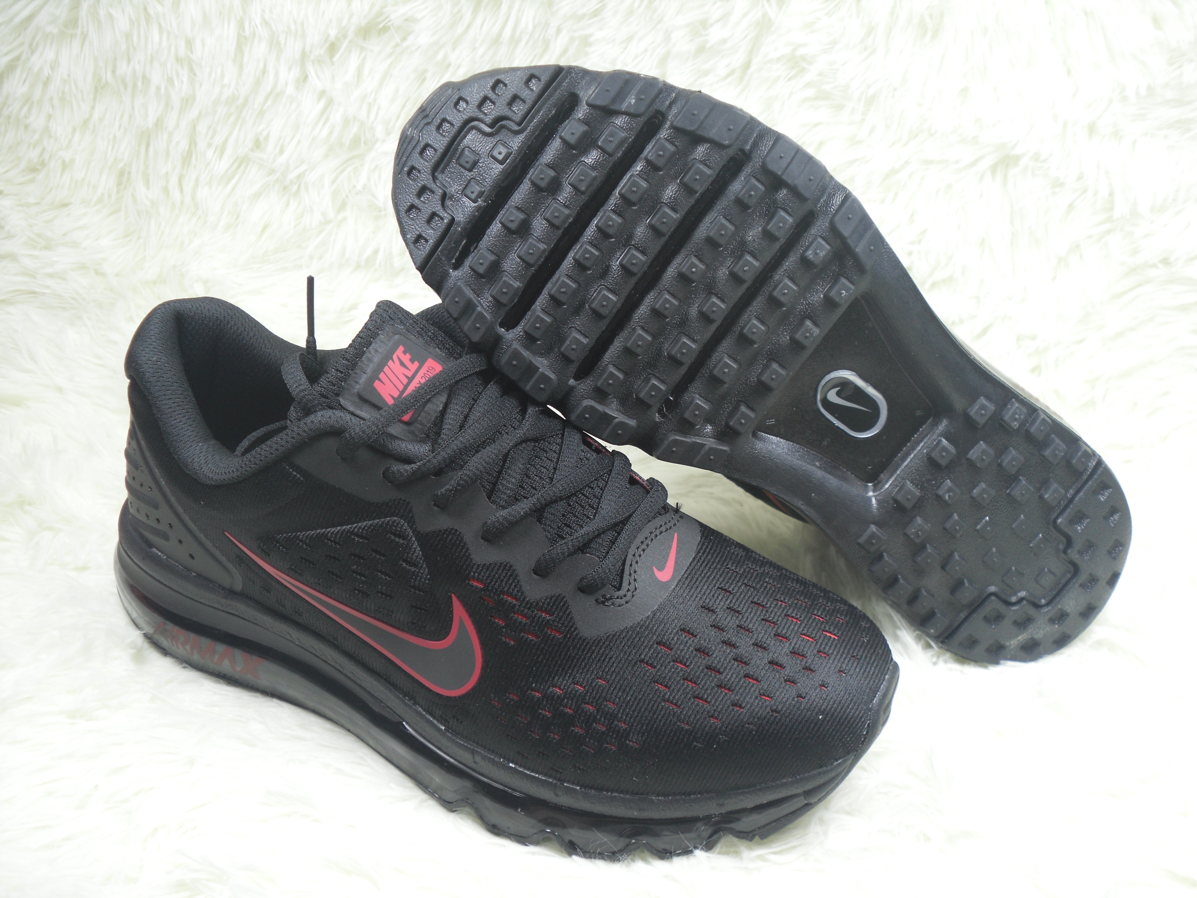 New Men Nike Air Max 2019 Black Red Shoes