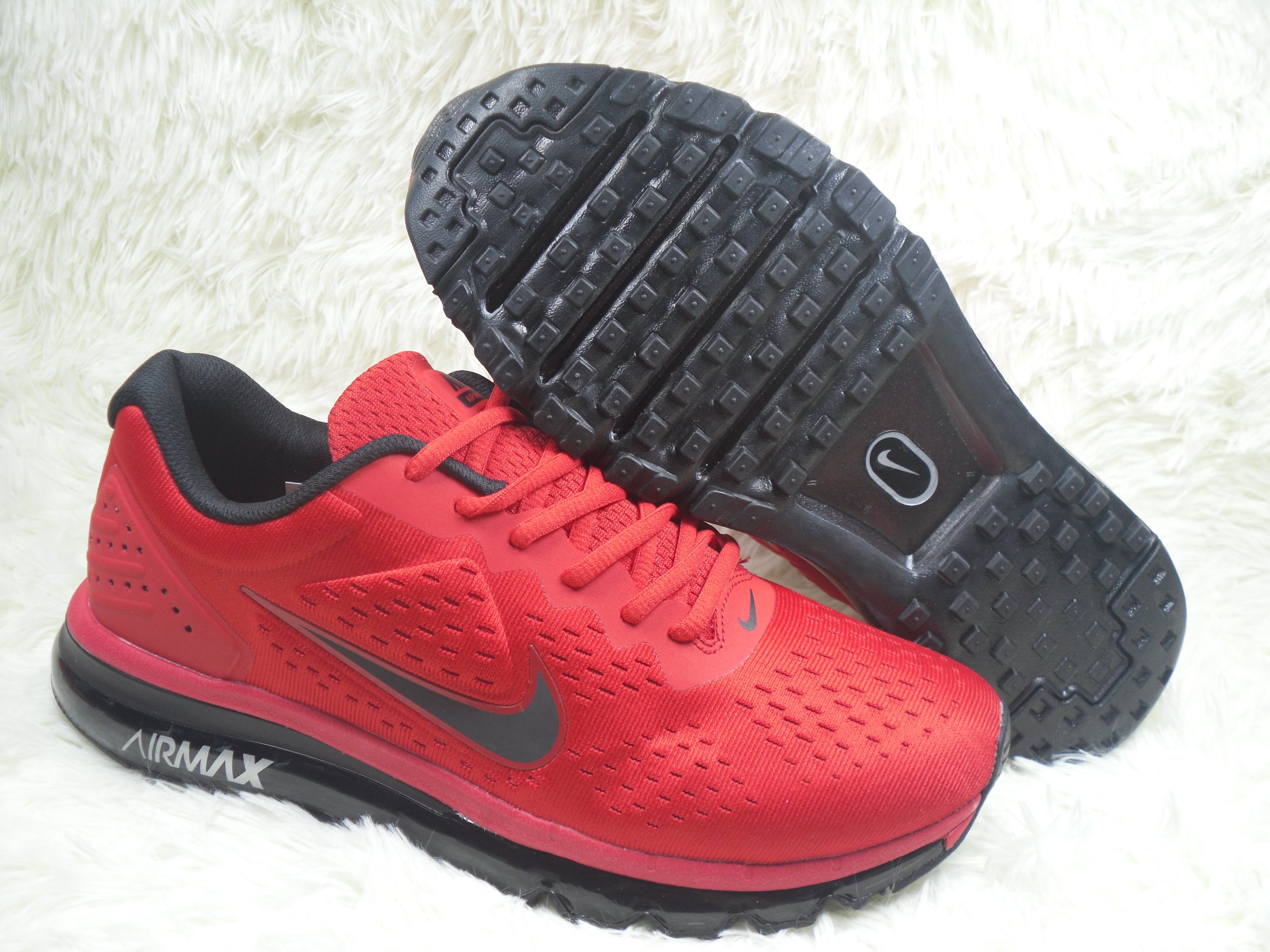 New Men Nike Air Max 2019 Red Black Shoes
