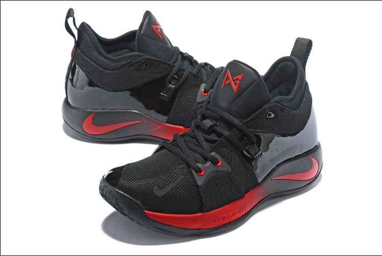 New Men Nike PG 2 Black Red Shoes