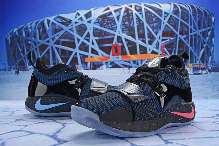 New Men Nike PG 2.5 Black Deep Blue Shoes