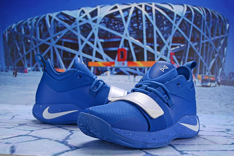 New Men Nike PG 2.5 Blue White Shoes